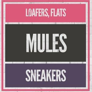 Shoes - Loafers, Flats, Mules, & Sneakers